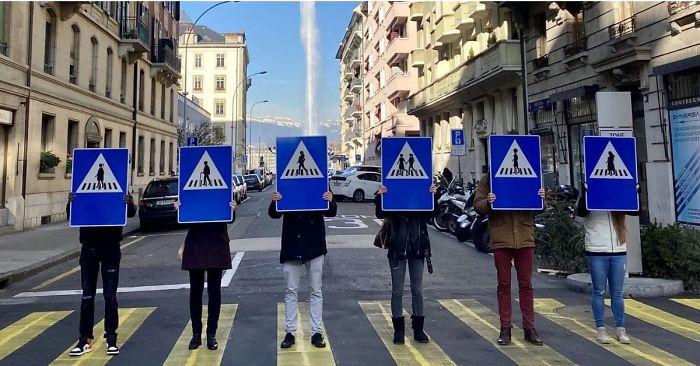 Ženeva menja saobraćajne znakove za pešake: Na njima će biti žene!